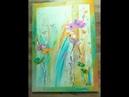Acrylic Painting for beginners Rahmen und Masking Fluid Rubbelkrepp