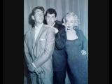 Мэрилин Монро, Дин Мартин и Джерри Льюис на радио-шоу, 1952-й год.