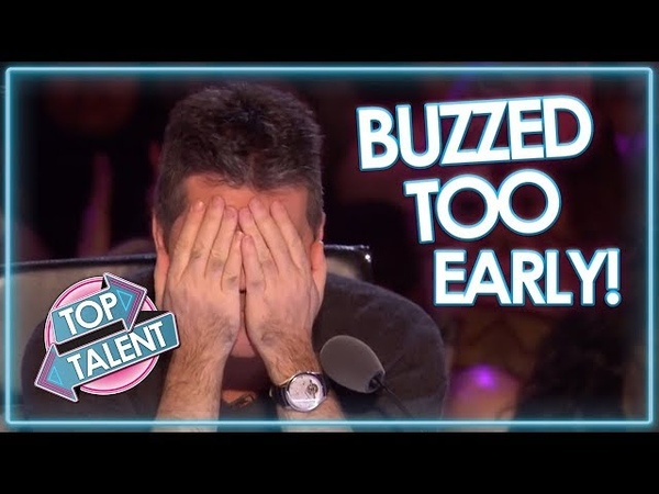 Judges BUZZ TOO EARLY On Britain's Got Talent! | Top Talent