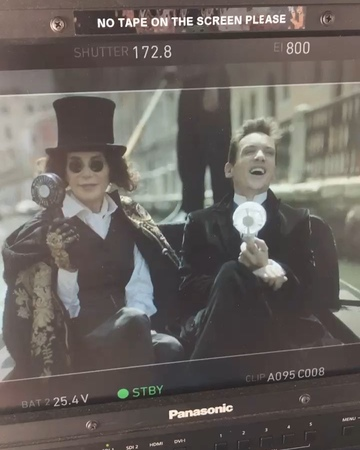 """Lois Robbins on Instagram: """"Oh Jonathan you're so funny! Behind the scenes of The Aspern Papers! Heading to London tomorrow morning for a special s..."""