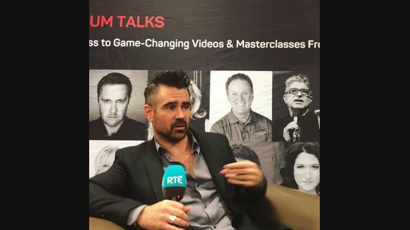 Colin Farrell with Rte.ie on Pendulum Summit