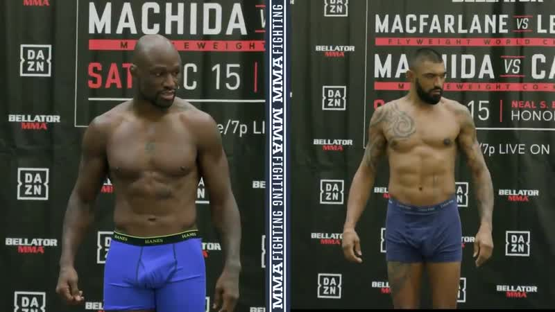 Both @KingMoFH and @Liam_mcgeary made the light heavyweight limit with a few pounds to spare almost King Mo, almost Bellator213