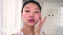 Model Yoon Young Bae's Guide to Cool-Girl Glitter Eyes and Red Lipstick | Beauty Secrets | Vogue