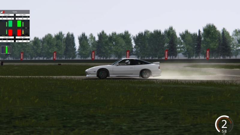 Assetto Corsa 180SX Backward RedRing drift training