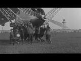 LZ-127 Graf Zeppelin airship lands in Friedrichshafen, Germany. HD Stock Footage