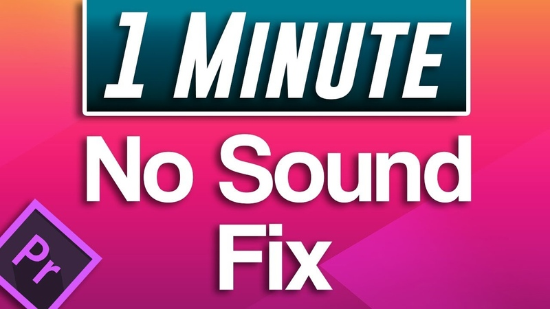 Premiere Pro Not Importing Audio to Sequence No Sound FIX