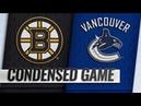 Boston Bruins vs Vancouver Canucks – Oct.20, 2018