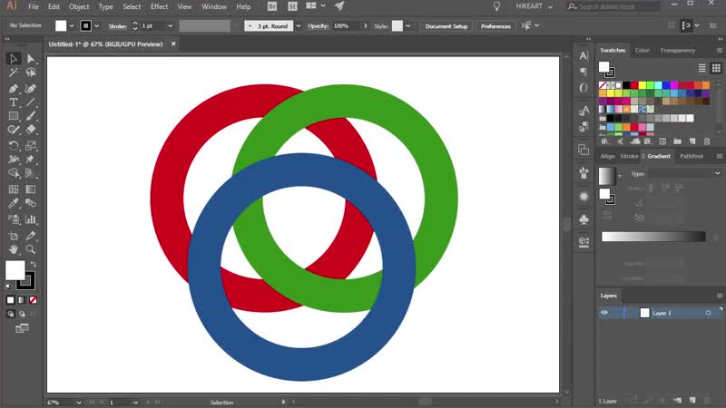 [2][117.90 F] how create a interlocking circles in adobe illustrator part 1