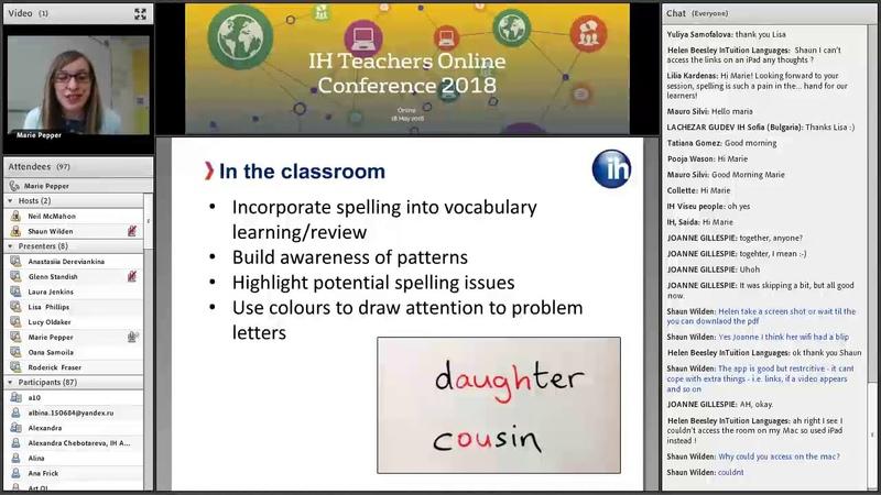 IH TOC 10: Improving Learner Spelling – Marie Pepper, IH Manchester