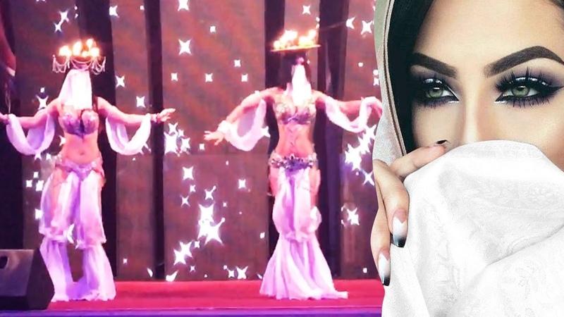 Романтика восточные девушки красиво танцуют восток шоу на сцене