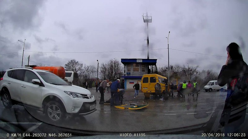 Авария бензовоза с маршрутной газелью. Трасса Элиста- с.Троицкое пост ДПС
