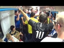 Fifa 2018. Fans of Iceland and Brazil in the Moscow metro.