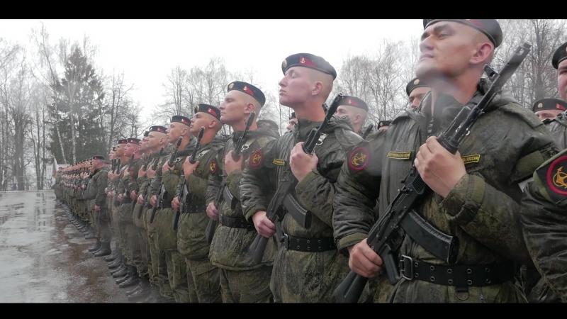 Кинокомпания «Союз Маринс Групп» на репетиции полка морской пехоты в Звенигороде