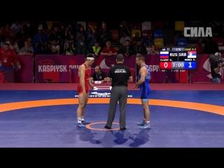 Каспийск-2018. Финал в  вк до 77 кг.  Роман Власов (Россия) - Викторо Немеш (Сербия)