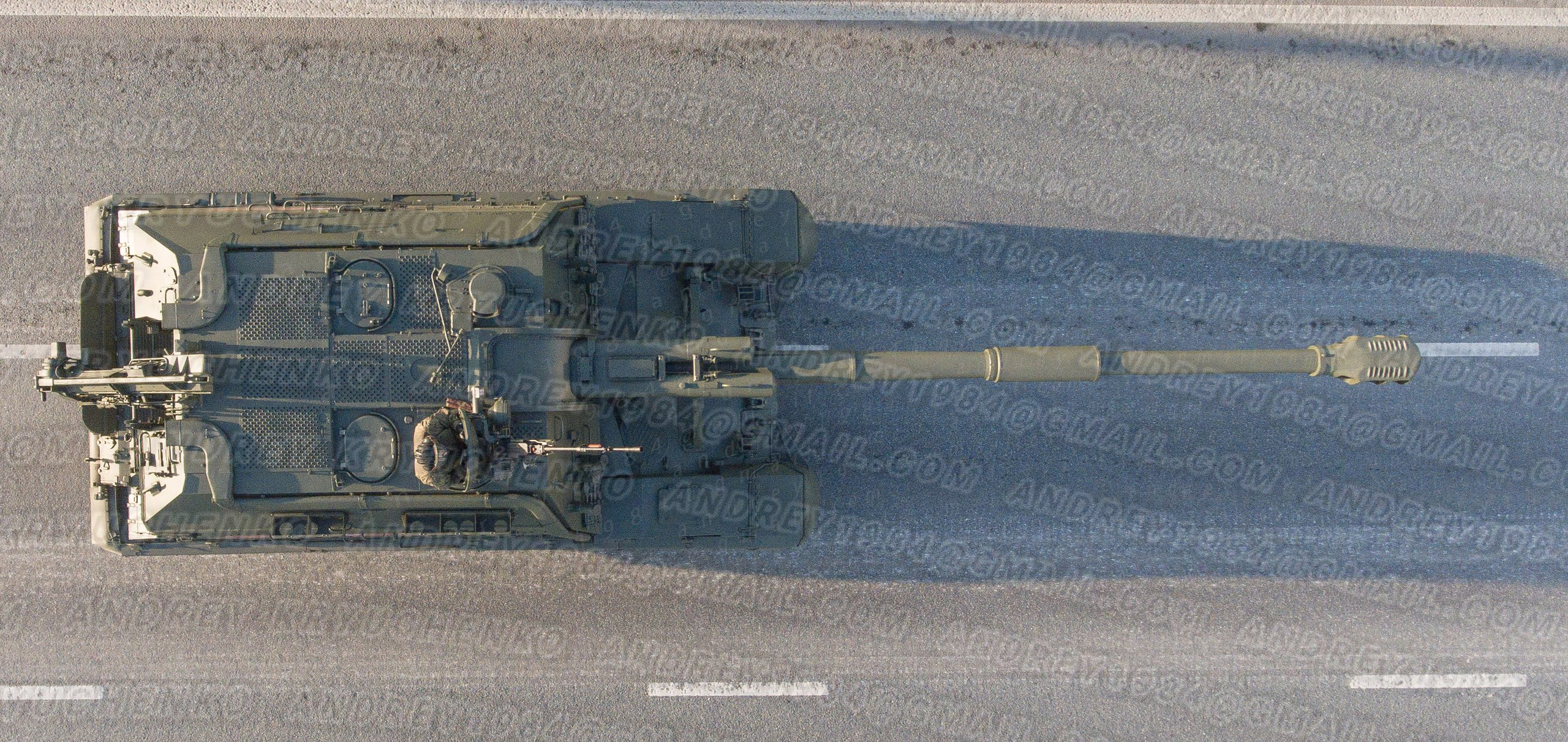 2S19M2 Msta-S, top view.