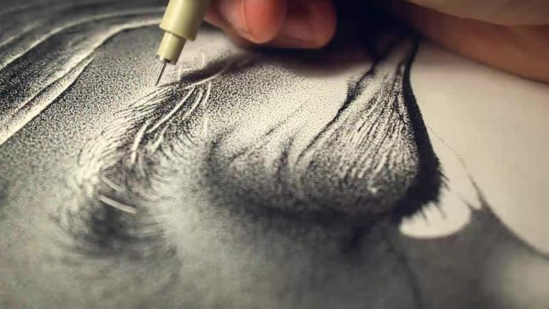 Фотореалистичный портрет из 3,2 миллионов крошечных точек