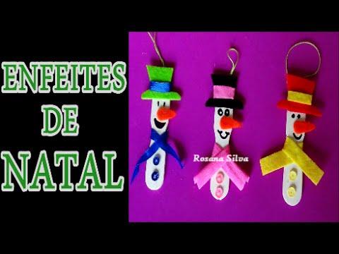 DIY 3 ENFEITES DE NATAL RECICLÁVEIS COM PALITOS DE PICOLÉ