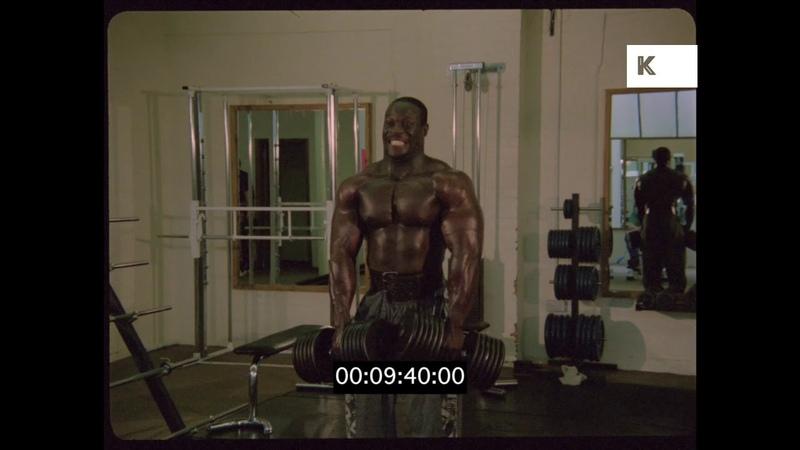 Bodybuilders Pumping Iron, 1980s World Gym, Venice Beach, HD