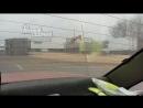 Перевернулся прицеп с зерном на трассе М4 около Батайска 18.4.2018 Ростов-на-Дону Главный