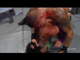 WWE - WWE SmackDown Live Randy Orton attempts to rip Jeff Hardys ear out