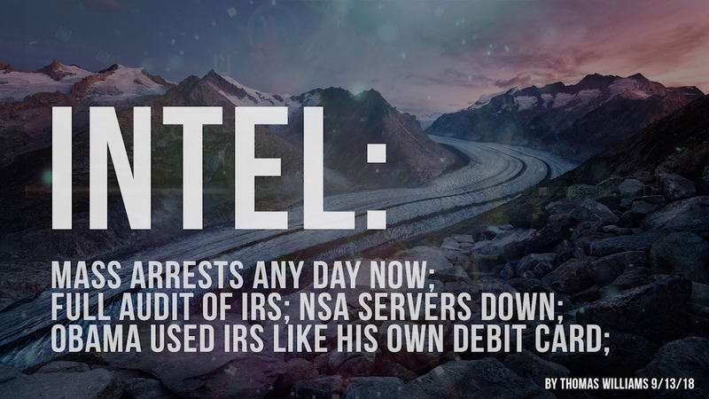 Arrests any day now; Full Audit of IRS; NSA Servers Down; Obama used IRS like his own Debit Card;