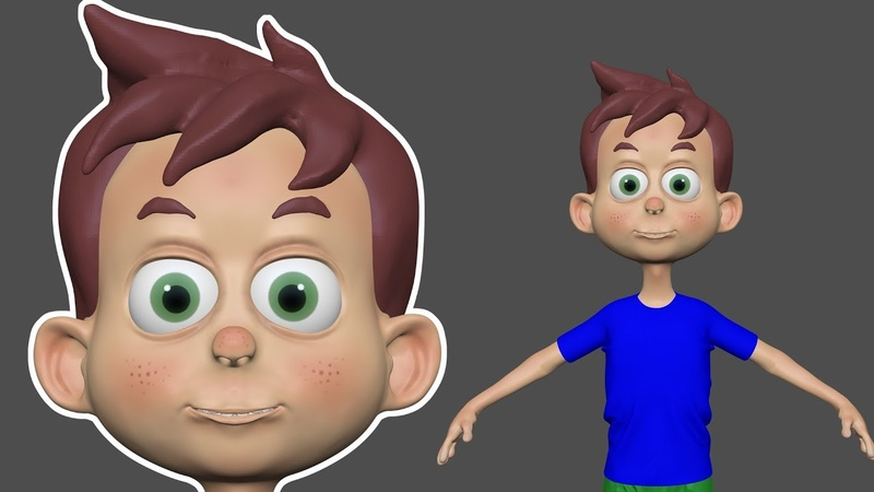Zbrush 2018 - Surface Noise Painting Carton Boy Character - Part 09