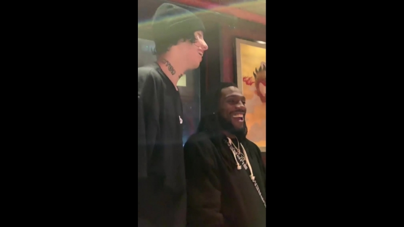 Lil Xan with Kenneth Faried