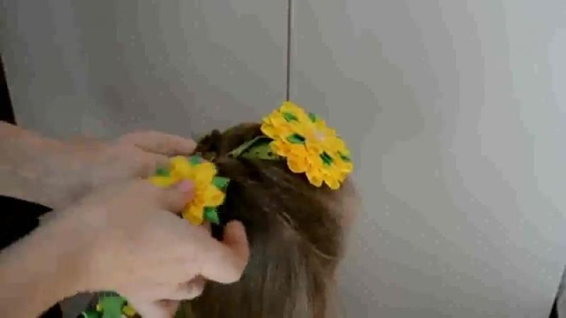 Как вплести ленту канзаши в косу (360p).mp4