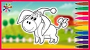 Рисуем веселого ослика.. Drawing a merry donkey.Раскраски для детей.