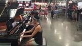 COSTCO PIANO GIRL &amp PIANO SALESMAN (Justin Romanowich) IMPROV of Someone Like You
