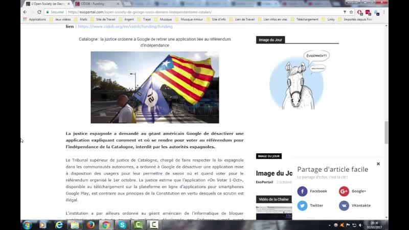 L'Open Society de George Soros derrière l'indépendantisme catalan