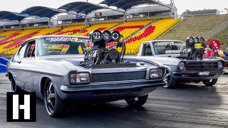 Aussie Tandem Tip-in Burnout party w The Blown Outlaws