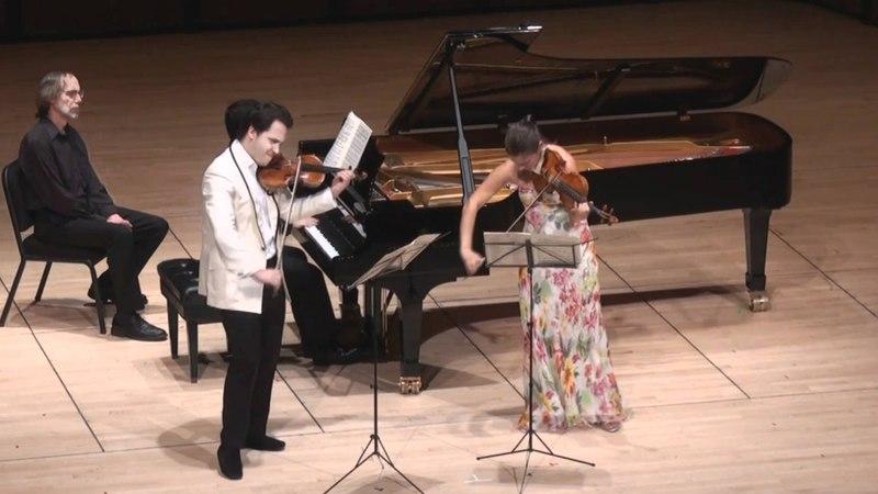 Moszkowski Suite for Two Violins Piano - 1st mvt. | G. Schmidt, B. Hristova, V. Asuncion