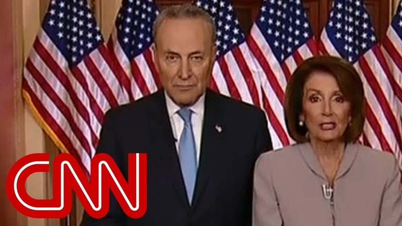 Nancy Pelosi Chuck Schumer respond to Trump's speech