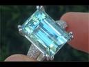 GIA Certified FLAWLESS Natural Aquamarine Diamond 14k White Gold Estate Ring GEM - C598