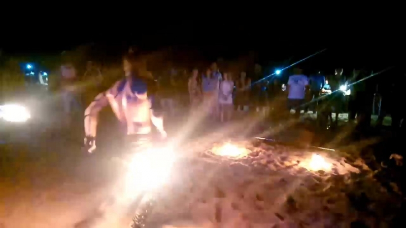 Fire show In Shiwa Walley Anjuna India