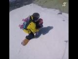 На сноуборде с ребенком