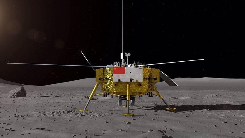 Китайский космический аппарат «Чанъэ-4» приземлился на обратной стороне Луны