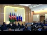 Заявления для прессы по итогам переговоров с Президентом Азербайджана Ильхамом Алиевым