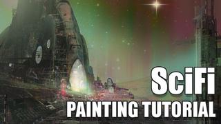 Digital SciFi Painting Tutorial in #Photoshop