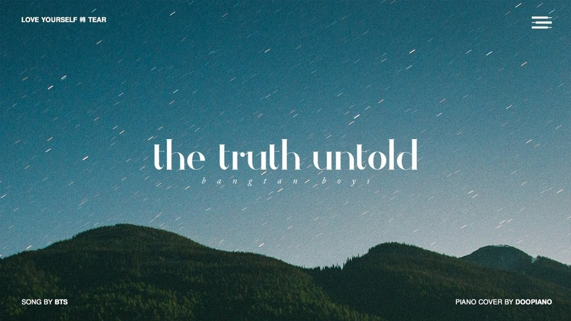 BTS (방탄소년단) - 전하지 못한 진심 (The Truth Untold) Piano Cover