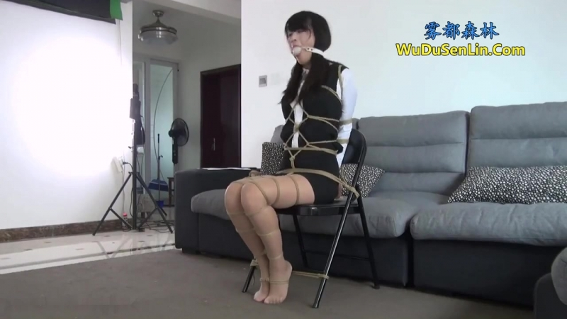 Sexy Chinese Secretary tied up.
