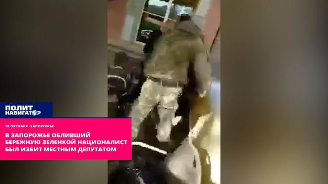В Запорожье обливший Бережную зеленкой националист был избит местным депутатом