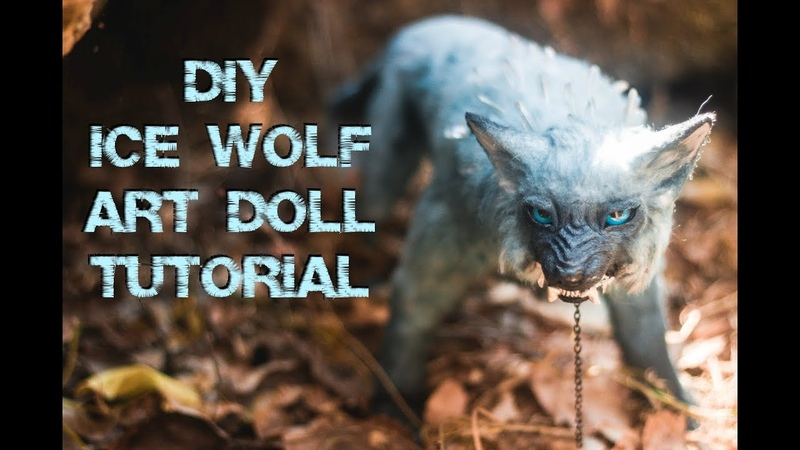 DIY Ice Wolf Art Doll Tutorial