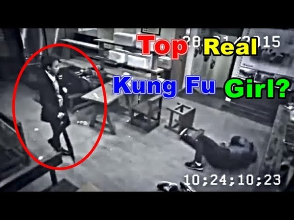 Top Best Female Martial Arts Caught on CCTV Camera🔷Don't mess with kung fu Girl