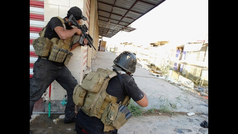 Iraq War - Iraqi Special Forces In Heavy Combat Action Against ISIS