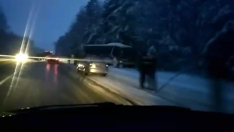 Автобус с хоккеистами Химика из Новополоцка попал в ДТП по по пути в Бобруйск