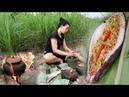 Desierto Primitivo Supervivencia En El Bosque Cocinar Peces Grandes