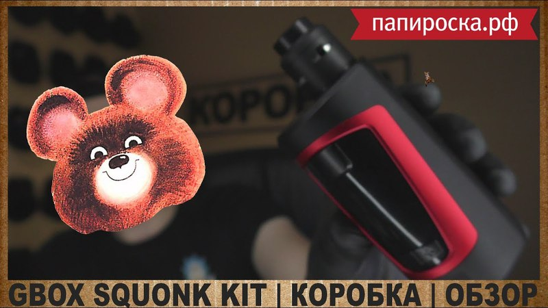 GBOX SQUONK KIT by GEEKVAPE from ПАПИРОСКА РФ КОРОБКА ОБЗОР