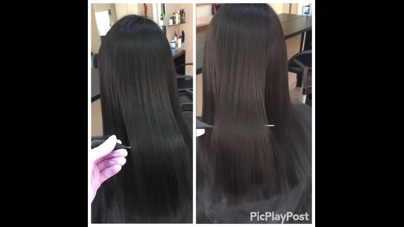 Ботокс для волос💙 для моей постоянной клиентки🤗 Восстановили, напитали и разгладили волосы. Ботокс оздоравливает, делает их наим